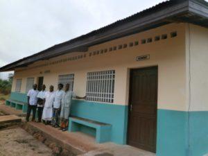 Novozgrajeni prostori v zdravstvenem centru v Safi v Centralnoafriški republiki.
